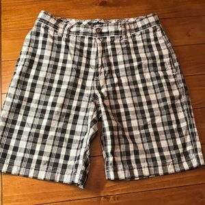 TOMMY HILFIGER Plaided Gray/Blue Shorts 32